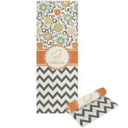 Swirls, Floral & Chevron Yoga Mat - Printed Front and Back (Personalized)