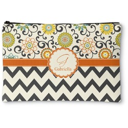 Swirls, Floral & Chevron Zipper Pouch (Personalized)