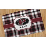 Pearland Oilers Plaid Area Rug (Personalized)