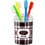 Pearland Oilers Plaid Toothbrush Holder (Personalized)