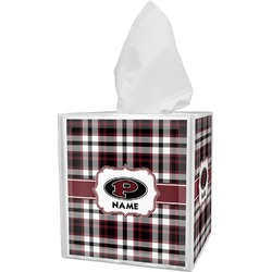 Pearland Oilers Plaid Tissue Box Cover (Personalized)