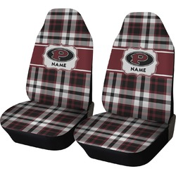 Pearland Oilers Plaid Car Seat Covers (Set of Two) (Personalized)
