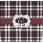 Pearland Oilers Plaid Ceramic Tile Hot Pad (Personalized)