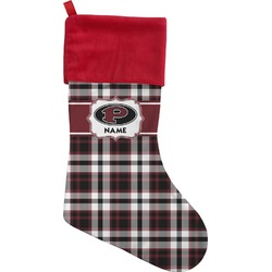 Pearland Oilers Plaid Christmas Stocking (Personalized)