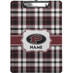Pearland Oilers Plaid Clipboard (Personalized)