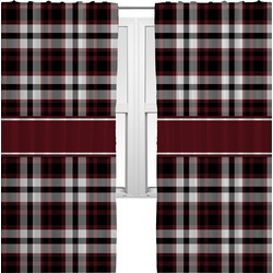 Pearland Oilers Plaid Curtains (2 Panels Per Set) (Personalized)