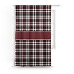 Pearland Oilers Plaid Curtain (Personalized)