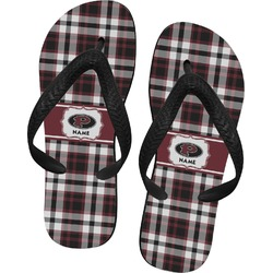 Pearland Oilers Plaid Flip Flops (Personalized)