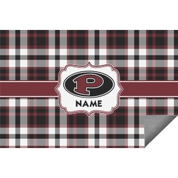 Pearland Oilers Plaid Indoor / Outdoor Rug (Personalized)