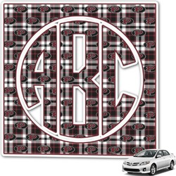 Pearland Oilers Plaid Monogram Car Decal (Personalized)
