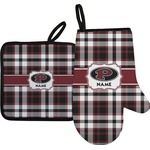 Pearland Oilers Plaid Oven Mitt & Pot Holder (Personalized)