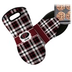 Pearland Oilers Plaid Neoprene Oven Mitt (Personalized)
