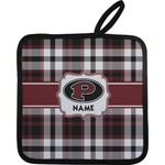 Pearland Oilers Plaid Pot Holder (Personalized)
