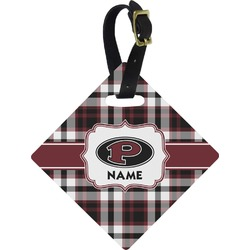 Pearland Oilers Plaid Diamond Luggage Tag (Personalized)