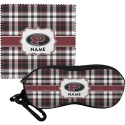 Pearland Oilers Plaid Eyeglass Case & Cloth (Personalized)
