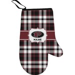 Pearland Oilers Plaid Right Oven Mitt (Personalized)