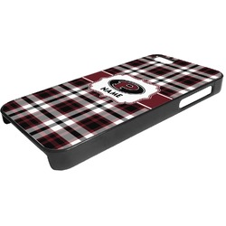 Pearland Oilers Plaid Plastic iPhone 5/5S Phone Case (Personalized)