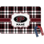 Pearland Oilers Plaid Rectangular Fridge Magnet (Personalized)