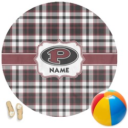 Pearland Oilers Plaid Round Beach Towel (Personalized)