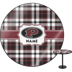 Pearland Oilers Plaid Round Table (Personalized)