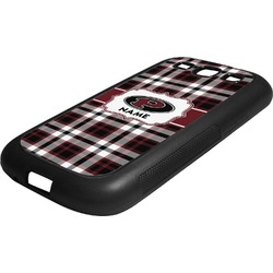 Pearland Oilers Plaid Rubber Samsung Galaxy 3 Phone Case (Personalized)