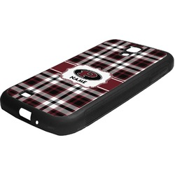 Pearland Oilers Plaid Rubber Samsung Galaxy 4 Phone Case (Personalized)