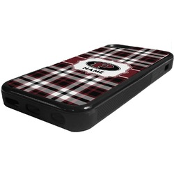 Pearland Oilers Plaid Rubber iPhone 5C Phone Case (Personalized)