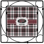 Pearland Oilers Plaid Square Trivet (Personalized)