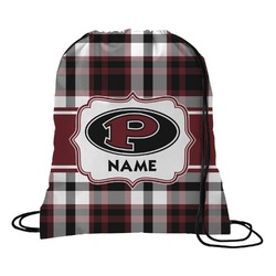 Pearland Oilers Plaid Drawstring Backpack (Personalized)