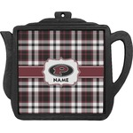 Pearland Oilers Plaid Teapot Trivet (Personalized)