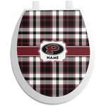 Pearland Oilers Plaid Toilet Seat Decal (Personalized)