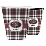 Pearland Oilers Plaid Waste Basket (Personalized)