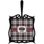 Pearland Oilers Plaid Trivet with Handle (Personalized)