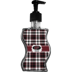 Pearland Oilers Plaid Wave Bottle Soap / Lotion Dispenser (Personalized)
