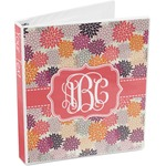 Mums Flower 3-Ring Binder (Personalized)