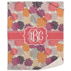 Mums Flower Sherpa Throw Blanket (Personalized)