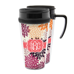 Mums Flower Acrylic Travel Mugs (Personalized)