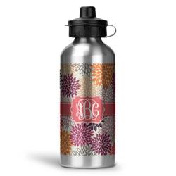 Mums Flower Water Bottle - Aluminum - 20 oz (Personalized)