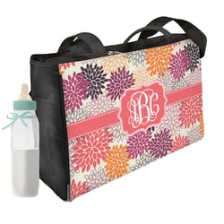 Mums Flower Diaper Bag w/ Monogram