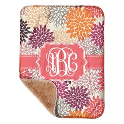 "Mums Flower Sherpa Baby Blanket 30"" x 40"" (Personalized)"