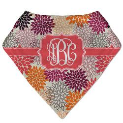 Mums Flower Bandana Bib (Personalized)