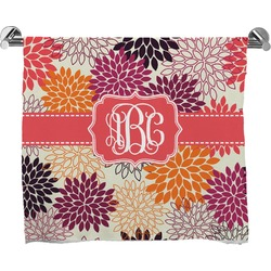 Mums Flower Full Print Bath Towel (Personalized)