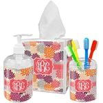 Mums Flower Bathroom Accessories Set (Personalized)