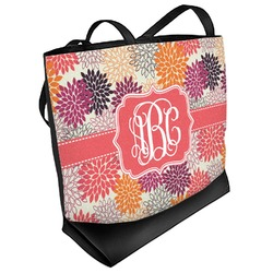 Mums Flower Beach Tote Bag (Personalized)