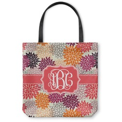 Mums Flower Canvas Tote Bag (Personalized)