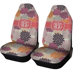 Mums Flower Car Seat Covers (Set of Two) (Personalized)