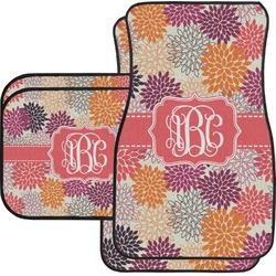Mums Flower Car Floor Mats Set - 2 Front & 2 Back (Personalized)