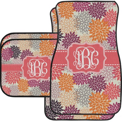 Mums Flower Car Floor Mats (Personalized)