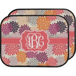 Mums Flower Car Floor Mats (Back Seat) (Personalized)