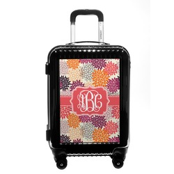 Mums Flower Carry On Hard Shell Suitcase (Personalized)